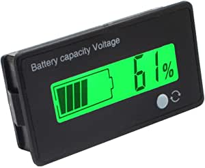 Cleanpower 12 V Multifunktionale Lcd Blei Säure Batterie Kapazität Monitor Manometer Meter Für Motorrad Golf Cart Auto Auto