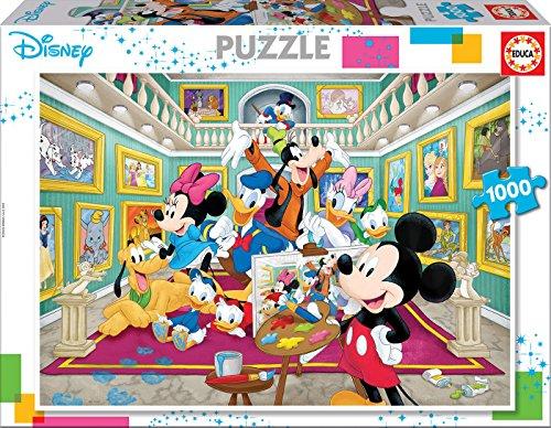 Educa Borrás–1000Kunstgalerie Mickey Puzzle, Einzelfarbe (17695)