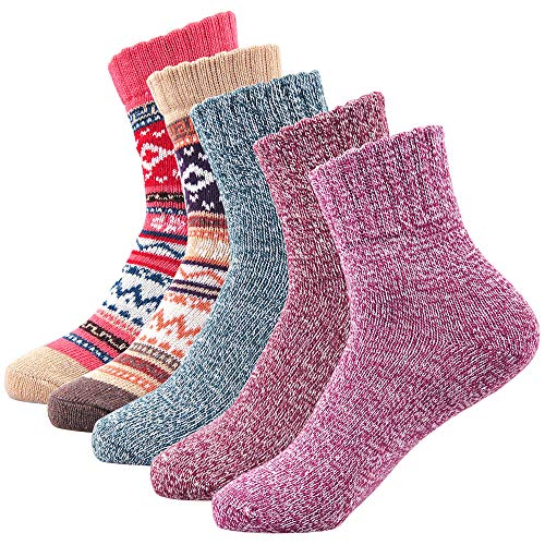 Winter Socks Women Wool Knitting Super Warm Plus Thick Cotton Sock for Boots Ski Hiking Bed by SIMIYA