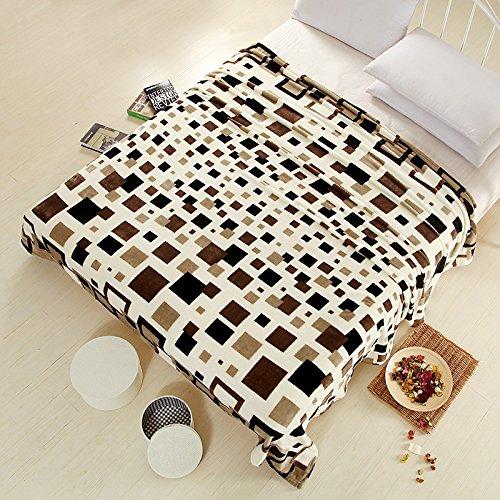 BDUK Klimaanlage und Doppelbett Blätter dicke Decke Coral Brutto Single Mittagsschlaf Decken Flanell, E,230cmx250cm Decke