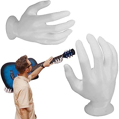 3D Hand Guitar Wall Mount Hanger - Guitar Wall Mount Hand Shaped Guitar Hanger Wall Mount Earphone Hanger Holder, Sturdy Support Fits per Chitarra/Basso/Ukulele/Violino Bianco