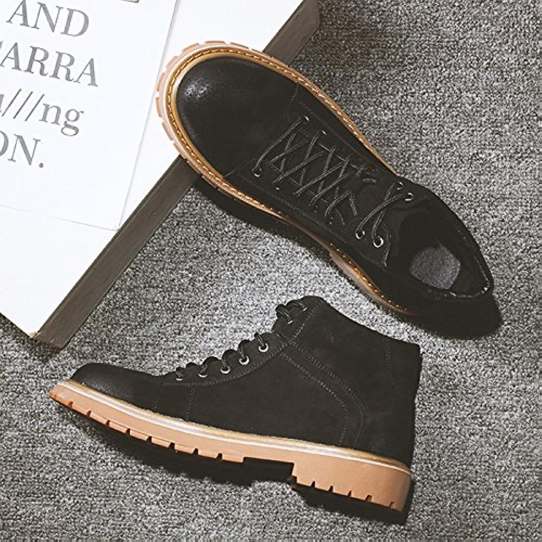 HL-PYL-Martin Botas de hombres altos zapatos botas botas robot con zapatos de algodón bajo,38,negro