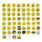 Jumbo-Set 120tlg., Emoji Emoticon Smile Lachgesichter Magnete, 60 unterschiedliche Emojis + 60 Emoji Aufkleber
