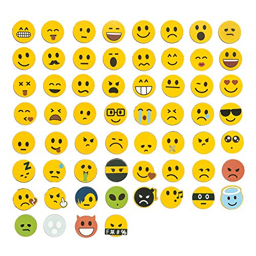 Jumbo-Set 120tlg., Emoji Emoticon Smile Lachgesichter Magnete, 60 unterschiedliche Emojis + 60 Emoji...