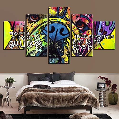 RMRM Lienzo HD Imprime Fotos Decoración para el hogar Sala de Estar 5 Unidades...