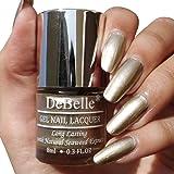 DeBelle Gel Nail Lacquer Chrome Gold 8 ml -(Metallic Gold Nail Polish)