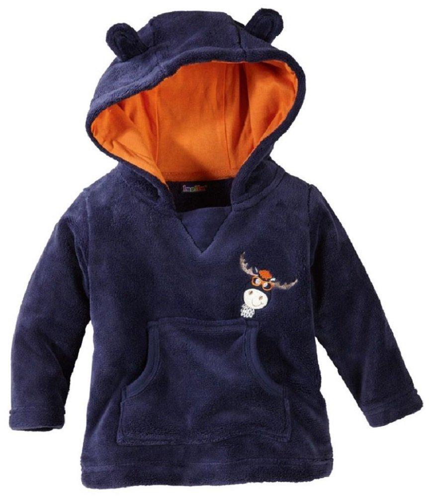 lupilu Pullover Baby Babyteddypullover Kapuze mit Öhrchen Kuschelig 74/80 BLAU