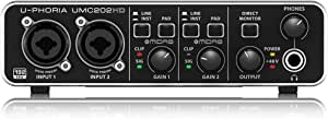 Behringer Umc202hd U Phoria 2x2 192khz Usb Audio Interface Musikinstrumente