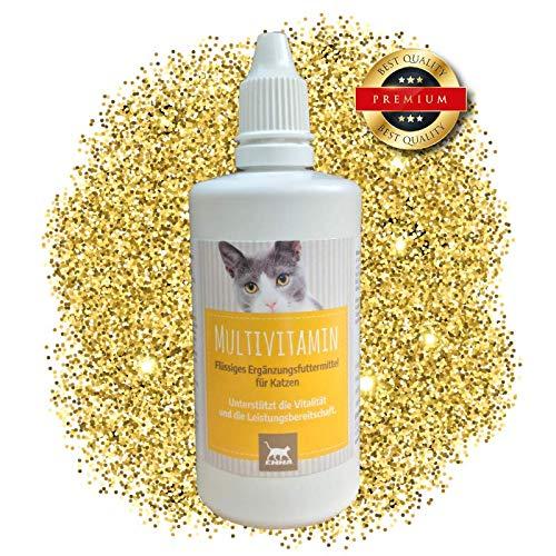 Energie Flüssige Multivitamin (EMMA Multi Vitamine + Vitamin B-Komplex für Katzen, Vitamin: B1, B2, B6, B12, Calcium, Folsäure, Eisen & Zink Flüssig 100 ml)