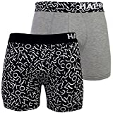 2 Happy Shorts Pants Herren Boxershorts Boxer witzige Designs FARBWAHL , Grösse:L - 6 - 52, Präzise Farbe:Design 3