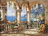 Fliesenwandbild - Terrasse Arch I - von Sung Kim - Küche Aufkantung/Bad Dusche
