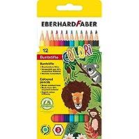 Eberhard Faber 514812 - Colori Buntstifte, hexagonale Form, in 12 Farben, im Kartonetui, zum Malen, Illustrieren und…