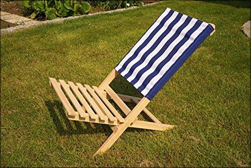 holz strandstuhl blau wei leicht zu transportierender klappstuhl f r den strand oder see. Black Bedroom Furniture Sets. Home Design Ideas