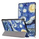 JGOO Coque Coque iPad Pro 10 5 Pouces Slim Fit Smart Housse Case Coque Etui de Protection en PU Cuir avec Support Multi Angles et Veille Automatique pour iPad Pro 10.5'', Nuit étoilée