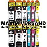 NEUSTE CHIPS funktionieren 100%ig in allen Druckern: 12 Stück MAXIMPRINT Tintenpatronen kompatibel zu Epson Multipack 33XL (bestehend aus T3351, T3361, T3362, T3363, T3364 mit Füllstandsanzeige)