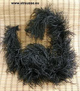 hochwertige strau enfeder boa schwarz von strau enfarm chemnitz k che haushalt. Black Bedroom Furniture Sets. Home Design Ideas