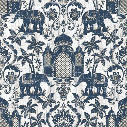 g67362-indo-chic-elephant-taj-mahal-blue-gold-white-galerie-wallpaper