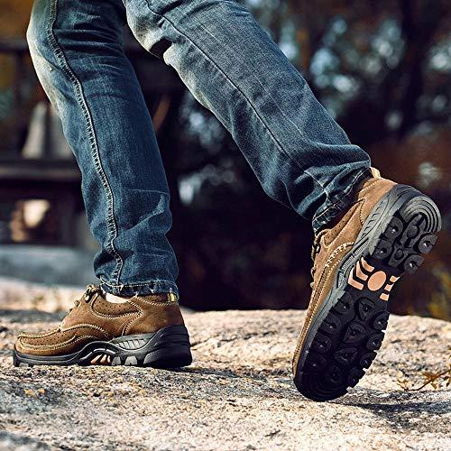 weyb Eyrb Neue Low-Cut Outdoor Herren Freizeitschuhe Big Head Schuhe rutschfeste Arbeitsschuhe Sport Wanderschuhe A1(44)