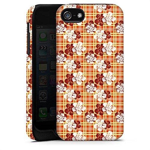 Apple iPhone X Silikon Hülle Case Schutzhülle Blumen Surfen Karomuster Hawaii Tough Case matt