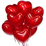 Baby & Sons Heart Shaped Balloons (Red) - Pack of 50 Balloons