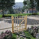 SHENGFENG Cancello Singolo per Recizione in Legno di Nocciolo 100x120 cm.Questo Design del Cancello sono Robusto e Sicuro