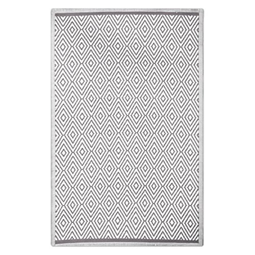 Alfombra de salón árabe gris de polipropileno para terraza de 160 x 230 cm Arabia - Lola Derek