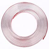 15 m X 6 mm autocollante flexible Auto bricolage chrom Bande Moulure de décoration pour pour carrosserie Window Bumper Grille