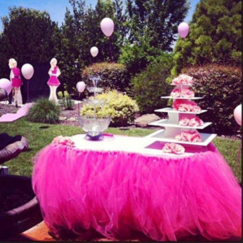 isch Rock für Hochzeit Geburtstag Party Baby Dusche Weihnachten Dekoration (Rose) ()