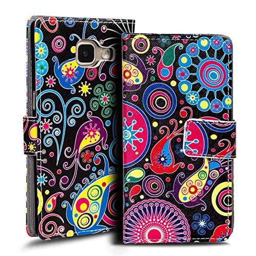 Verco Handyhülle Galaxy A3 2017 Muster, Motiv Hülle für Samsung Galaxy A3 A320 Book Case Flip Cover - Design 4