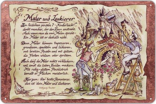 Geschenk Maler und Lackierer Blechschild 30 x 20 cm