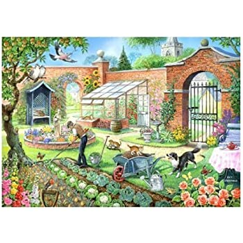 1000 Piece DeLuxe Jigsaw Puzzle - Kitchen Garden View