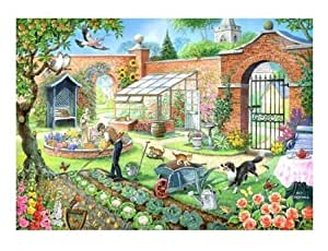 1000 Piece DeLuxe Jigsaw Puzzle - Kitchen Garden View