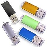 Sanfeya Usb Stick 4 Gb Usb 2 0 Mehrfarbig 5 Farben Elektronik