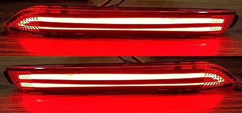 Automaze Rear Bumper LED Reflector Brake Light For Toyota Innova 2012-2015 Models, Set of 2 Pc