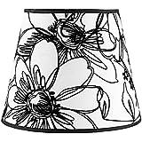 Splink - Pantalla de lámpara de estilo europeo, con pinza, hecha a mano,11 x 18 x 14 cm