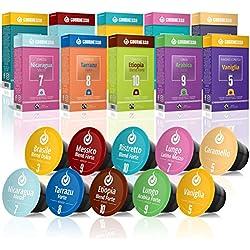 Gourmesso Coffret Découverte - 100 capsules de café compatibles Nespresso ®* - Café équitable