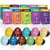 Gourmesso Coffret Découverte - 100 capsules de café compatibles Nespresso - Café équitable