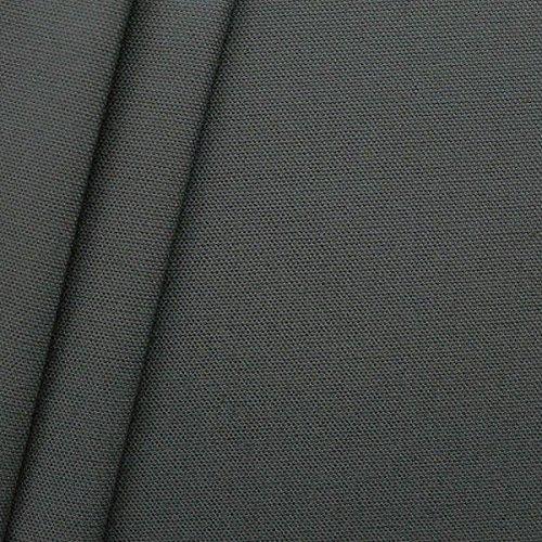 100% Baumwolle Canvas Stoff Meterware Dunkel-Grau -