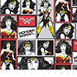 Camelot Batman V superman- Wonder Woman en blocs en établir 23420102 Fat Quarter Super Girl, Comic, DC, Marvel, Cartoon, en tissu courtepointe, Craft, reine de la Amazon