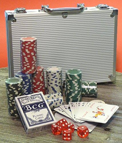 WIM-SHOP Deluxe Poker Set mit 200 Pokerchips im ALU-Koffer Top QUALITÄT