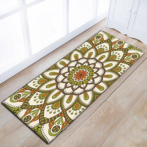 Juzhijia modello classico tappeto di corridoio asorbent domestici di cucina lungo tappetino antiscivolo superficie coperta per posto letto camera da letto tappeti floreali,04,60 x 90 cm