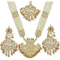 Prita's Bridal collection Kundan Pearl Rani Haar Necklace set for women
