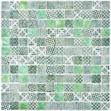 Retro Vintage Mosaik Fliese ECO Recycling GLAS ECO grün patchwork für WAND BAD WC DUSCHE KÜCHE FLIESENSPIEGEL THEKENVERKLEIDUNG BADEWANNENVERKLEIDUNG Mosaikmatte Mosaikplatte