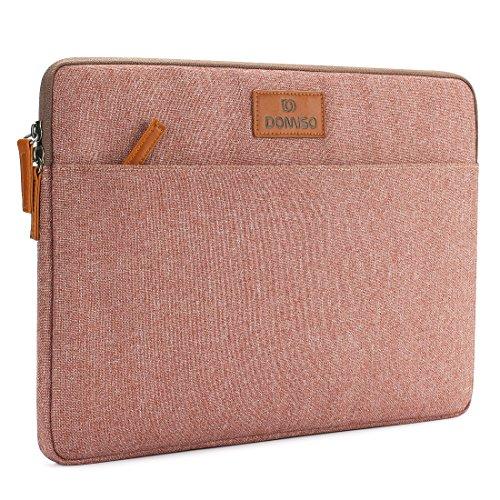 "DOMISO 11.6 Zoll Laptophülle Hülle Tasche Sleeve Case Etui Notebook Schutzhülle Canvas-Gewebe für 11.6\"" Notebook Computer Chromebook / 11.6\"" MacBook Air / 12.3\"" Microsoft Surface Pro 4, Pink"