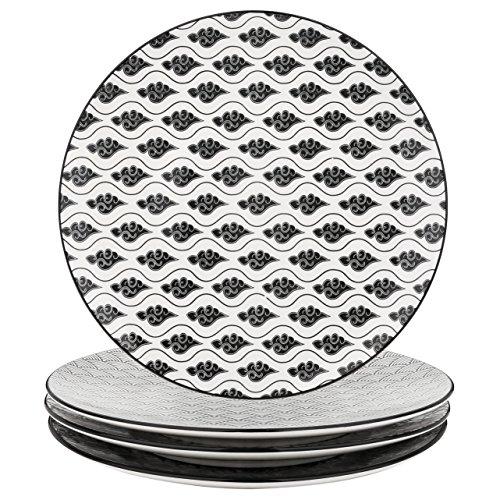 vancasso, série Haruka, Assiettes Plate, 4 pièces, en Porcelaine, Style Japonais