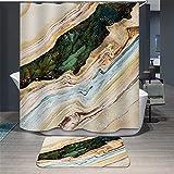 TS-nslixuan Duschvorhang Wasserdicht Mehltau Polyester Dekorieren Sie Ihr Leben Duschvorhang Digital Print Tinte High Color Umweltfreundliche Kein Geruch Oben Ohne Badematte 180Cmx180Cm Ölgemälde.
