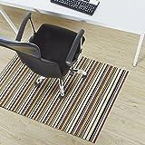 Design Bodenschutzmatte Asti in 6 Größen | dekorative Unterlegmatte für Bürostühle oder Sportgeräte (120 x 90 cm)