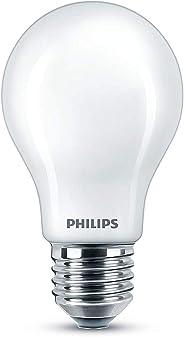 Philips LED Bombilla estándar mate, consumo de 10,5W equivalente a 100 W de una bombilla incandescente, casquillo gordo E27
