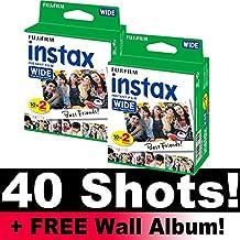 Paquete de película Fujifilm Instax Wide (40 tomas) más álbum de fotos para pared