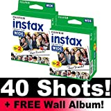 Fujifilm Instax Wide Film Bundle Pack (40 Aufnahmen) + Gratis Wand Album.